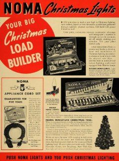 1939 Ad Noma Electric Corp. Christmas Tree Lighting   Original Print Ad