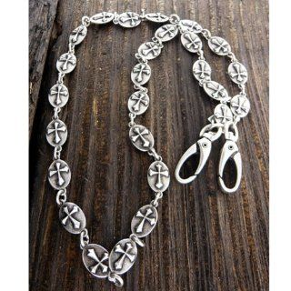 Mens Stainless Steel Jeans Chain   Burnished Silver Jewelry