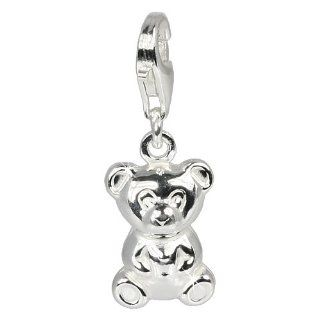 SilberDream Charm bear, 925 Sterling Silver Charms Pendant with Lobster Clasp for Charms Bracelet, Necklace or Earring FC620 SilberDream Jewelry