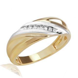 Mens Diamond Accent Slant Wedding Band in 10K Gold   Zales