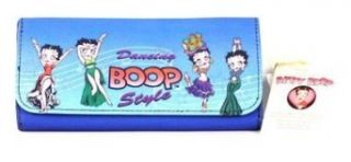 New Betty Boop Dancing BOOP Style Tri Fold Checkbook Wallet   Blue