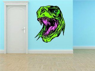 PRESCHOOL CLASSROOM Dinosaur Animal Head Character Figure Boy Girl Kids Children Sticker Mural Vinyl Wall   Best Selling Cling Transfer Decal Color 642 Size  20 Inches X 30 Inches   22 Colors Available   Wall Decor Stickers