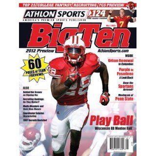Athlon Sports 2012 College Football Big Ten Preview Magazine  Wisconsin Badgers Cover Athlon Sports Books