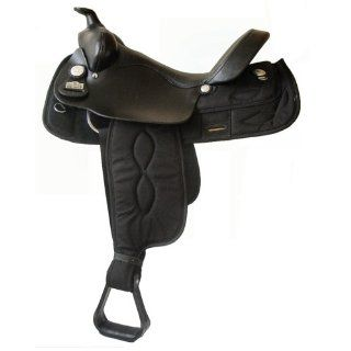"16"" Big Horn Black Cordura Gaited Horse Trail Saddle   bh263 [Misc.] [Misc.]  Sports & Outdoors"