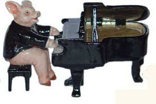 Shop PIG in TUXEDO sits on BENCH plays GRAND PIANO MINIATURE Figurine Porcelain KLIMA L655A at the  Home D�cor Store