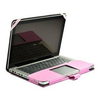 "Cosmos Pink Color Leather Skin Case Cover + Clear Ultra Thin TPU Soft Keyboard Cover Skin for Apple Macbook Pro 13"" 13.3 + Cosmos Cable Tie Computers & Accessories"