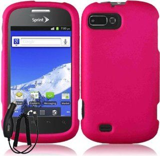 ZTE VALET Z665C SOLID HOT PINK RUBBERIZED COVER SNAP ON HARD CASE + FREE CAR CHARGER from [ACCESSORY ARENA] Cell Phones & Accessories