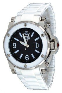 Oniss #ON670 M Men's Day/Date Sapphire Crystal Black Dial White Ceramic Watch at  Men's Watch store.