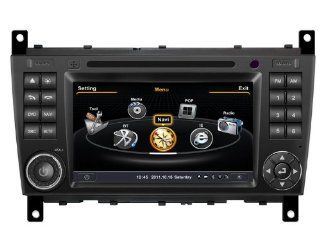 SDB Car DVD Player With GPS Navigation(free Map) For Mercedes Benz C Class W203 2004 2007 Audio Video Stereo System with Bluetooth Hands Free, USB/SD, AUX Input, Radio(AM/FM), TV, Plug & Play Installation  In Dash Vehicle Gps Units