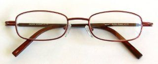"""Zoom"" / Dr. Dean Edell +2.00 Burgandy Metal Wire Frame Reading Glasses with Spring Hinges  D60 Health & Personal Care"