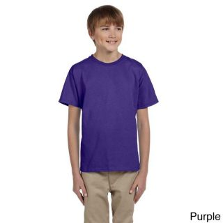 Fruit Of The Loom Fruit Of The Loom Youth Heavy Cotton Hd T shirt Purple Size L (14 16)