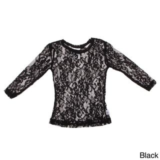 Andee Lew Girl's Lace Long Sleeve Shirt Girls' Clothing