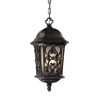 Manorgate Collection Hanging Lantern 4 light Outdoor Marbleized Mahogany Light Fixture