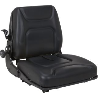 K & M Uni Pro Mechanical Suspension Tractor Seat – Black, Model# 7890  Forklift   Material Handling Seats