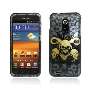 Black Yellow Skull Hard Cover Case for Samsung Galaxy S2 S II Sprint Boost Virgin SPH D710 Epic Touch 4G Cell Phones & Accessories
