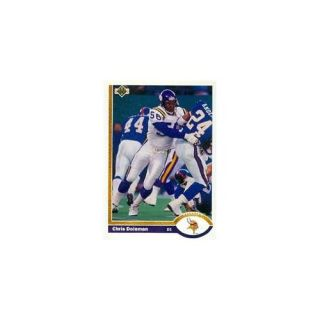 Autograph Warehouse 80941 Chris Doleman Football Card Minnesota Vikings 1991 Upper Deck No . 330