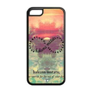 Custom Hakuna Matata Cover Case for iPhone 5C LC 696 Cell Phones & Accessories