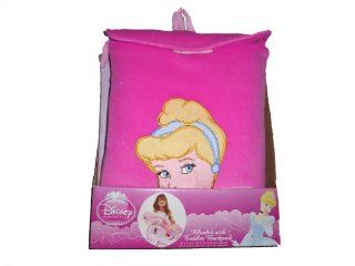 Disney Princess Cinderella Toddler Blanket with Plush Backpack  Baby