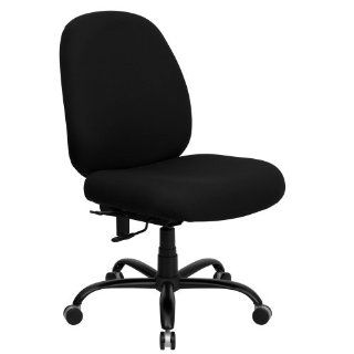 Flash Furniture WL 715MG BK GG Hercules Series 400 Pound Big/Tall Black Fabric Office Chair with Extra Wide Seat   Desk Chairs
