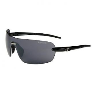 Tifosi Vogel T F705 Sunglasses,Gloss Black Frame/Smoke Lens,one size Clothing
