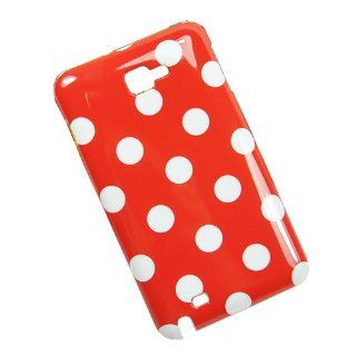 AMworkstation� Retro Style Red Polka Dot Dots Pattern Hard Case Plastic Skin Back Cover for Samsung Galaxy Note (I717 I9220 N7000) Cell Phones & Accessories