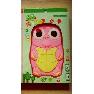 "Pink Turtle Dinosaur ""Flexa"" flexible silicone soft skin case cover for Apple iPhone 4 4G 4S Cell Phones & Accessories"