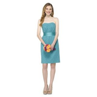 TEVOLIO Womens Lace Strapless Dress   Blue Ocean   8