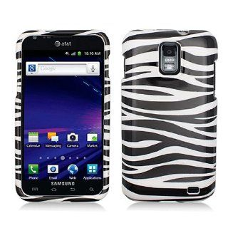 Black White Zebra Stripe Hard Cover Case for Samsung Galaxy S2 S II AT&T i727 SGH I727 Skyrocket Cell Phones & Accessories