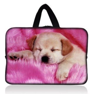 "Pink Sleeping Dog Universal 7"" 7.7"" 8"" Carrying Bag Case Cover Bag Sleeve + Handle for 7"" Samsung Galaxy Tab 2 Tab 3, Ipad Mini, 2 3 4 Kindle Fire, Touch, Fire HD,Asus Google Nexus 7,LeapFrog LeapPad 2,Asus Memo Pad ME172V,BlackBerry Pl"