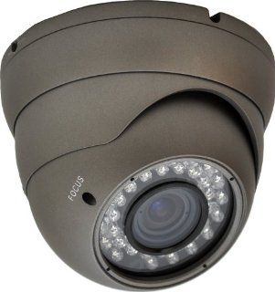 LTS LTCMD718H Night Vision Metal Dome Camera with 1/3 Inch Sony CCD, 540TVL, and 2.8 10mm Wide Angle Vari Focal Lens