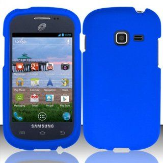 Blue Hard Cover Case for Samsung Galaxy Discover SGH S730G B89M Cell Phones & Accessories