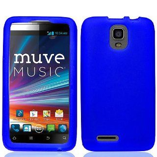 Blue Soft Silicone Gel Skin Cover Case for ZTE Engage LT Cricket N8000 Cell Phones & Accessories