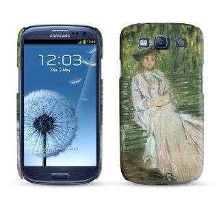 Samsung Galaxy S3 Case Woman Seated on a Bench 1874 Claude Monet Cell Phone Cover Cell Phones & Accessories