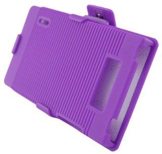 Aimo Wireless LGUS730PCBEC014 Shell Holster Combo Protective Case for LG Splendor/Venice S730 with Kickstand Belt Clip and Holster   Retail Packaging   Purple Cell Phones & Accessories