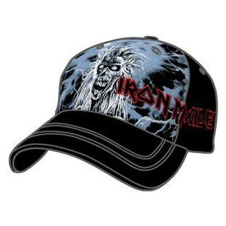 Iron Maiden Blue First Album Baseball Cap Fitted Iron Maiden Hat Clothing