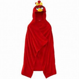 Rovio Red Girl Angry Birds Wrappie Kids Hooded Wrap Microplush Throw Blanket