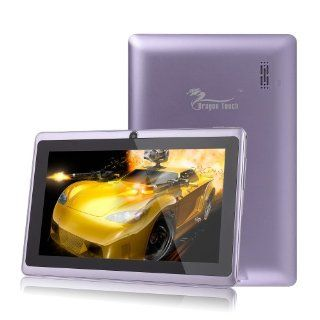 Dragon Touch® 7'' Purple Google Android 4.2 8GB Jelly Bean Allwinner A13 Tablet MID Cortex A8 1.2GHz, Capactive Multiple Touch Screen, Google Play Pre Installed, USB OTG, Supports Skype Video Chat Calling, Netflix Movies and Flash Player MID74