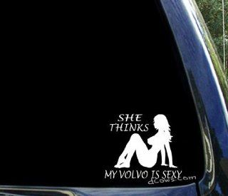 She thinks my VOLVO is sexy ~ funny window sticker decal