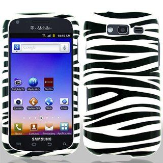 Black White Zebra Stripe Hard Cover Case for Samsung Galaxy S Blaze 4G SGH T769 Cell Phones & Accessories