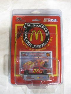 Nascar Die cast #27 Hut Stricklin McDonalds Racing Team Car Edition REPLICA of a Ford Taurus in a 164 scale Includes Trading Card and Display Stand Manufactured by Racing Champions Toys & Games
