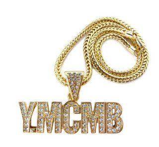 Iced Out YMCMB(Young Money&Cash Money Billionaires)Gold pendant for women MP775G Jewelry