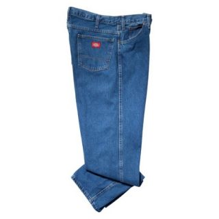 Dickies Mens Regular Fit 5 Pocket Jean   Stone Washed Blue 42x34