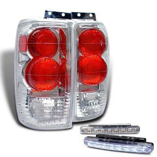 Rxmotoring 1997 Ford Expedition Tail Lights + 8 Led Fog Bumper Lamps Automotive