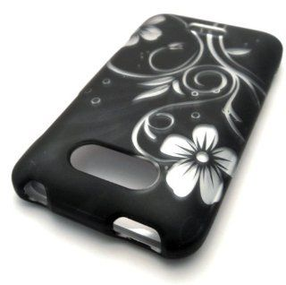 LG Motion MS770 4G Black Vine Flower Design Rubberized Feel Rubber Coated PROTECTOR HARD Case Cover Skin Protector Metro PCS Cell Phones & Accessories