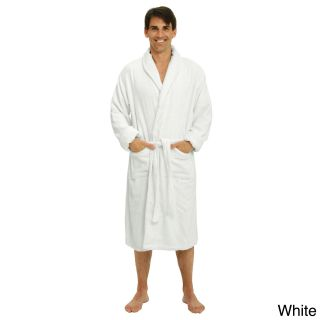 Alexander Del Rossa Del Rossa Mens Thick Shawl Collar Terry Cotton Bath Robe White Size 4XL