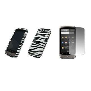 HTC Google Nexus One   Premium Zebra Stripes Design Design Snap On Cover Hard Case Cell Phone Protector + Crystal Clear LCD Screen Protector for HTC Google Nexus One Cell Phones & Accessories