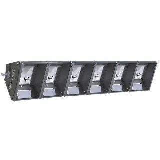 Leviton CS6C3 50B Six Light Cyc Strip 3 Circuit with Six 3 Foot Cords Bare Wire Leads, Black   Light Sockets