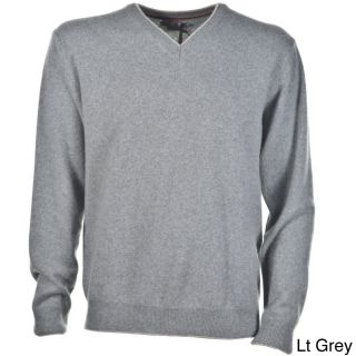 Luigi Baldo Luigi Baldo Italian Made Mens Cashmere V neck Sweater Grey Size L