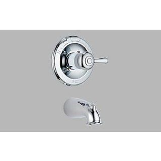 Delta T14178LHPH778 Monitor 14 Series Trim Leland Tub Only with Porcelain Lever Handle T14178LHPH778   Tub Filler Faucets