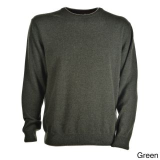 Luigi Baldo Luigi Baldo Italian Made Mens Cashmere Crew Neck Sweater Green Size 2XL